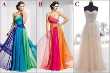 Womens Prom Gown Formal Bridesmaid Cocktail Evening Party Ball Long Gown Dress