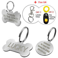 Stainless Steel Custom Dog Tags for Pets Engraved Dog Collar Tags Free Engraving