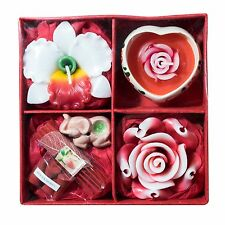 Aroma Candle Tea Light Scented incense Cones Stick Gift Set Christmas New year