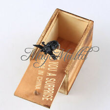 Trick Prank Toy Lifelike Animal Hidden in Wooden Box Case Surprise Shock Joke  チ