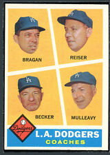 1960 Topps #463 Dodgers Coaches EXMT 95543