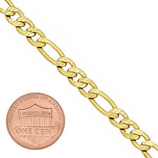 Men's 9mm 14 Karat Yellow Gold-Overlay Classic Double Open Curb Link Chain