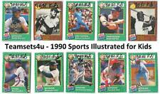 1990 Sports Illustrated for Kids Baseball Set ** Pick Your Team **