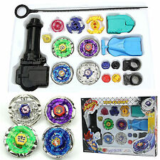 4D Beyblade Top Fusion Metal Master Fight Rapidity Rare Launcher Set Kid Toy