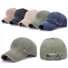 Men Women Adjustable Plain Baseball Trucker Cap Sport Snapback Hip-hop Hat NEW 8