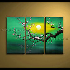 Stunning Contemporary Wall Art Floral Painting Plum Blossom Oil On Canvas
