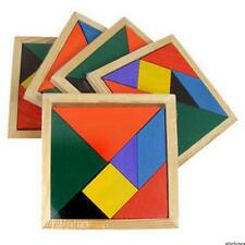 2/1x Wooden 7 Pieces Puzzle Tangram Recognization Baby Kid Intelligent Game Toy