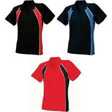 Ladies Women Finden Hales Jersey Team Slim Fit Polo Neck Collar Shirt Top