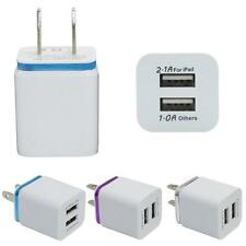 Dual Port AC USB Home Travel Wall Charger Adapter for iPhone Samsung Galaxy LG