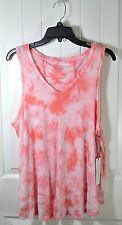 NWT WOMEN'S CALVIN KLEIN PERFORMANCE CORAL SLEEVELESS TANK TOP T SHIRT SZ XL