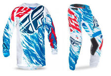 2017 FLY RACING YOUTH KIDS KINETIC RELAPSE RED WHITE BLUE MX JERSEY PANTS COMBO