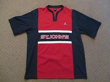 VINTAGE ST. JOHNS UNIVERSITY RED STORM NIKE AIR JORDAN WARMUP JERSEY MENS XL 80S