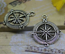 8pcsThe Tibet silver compass accessories pendant of style restoring ancient ways