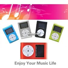 Mini Metal Clip MP3 Music Player LCD Screen for 2/4/8/32GB TF Card FM Radio
