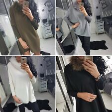 2017 Sexy Fashion Womens Loose Long Sleeve Cocktail Party Casual Mini Dress