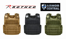 New Rothco Tactical Molle Plate Carrier Vest - Black or Coyote Brown - 892