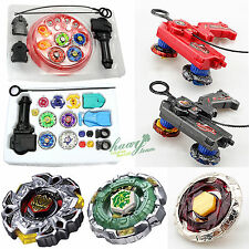 Kids Beyblade 4D Metal Master Fusion Top Rapidity Fight Launcher Grip Set Toy