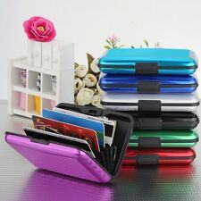 New Aluminum Metal stripe Waterproof Business ID Credit Card Holder Wallet Case