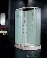 Hydra Cabin Shower Cubicle Mixer Tray Enclosure Offset Quad 1200 x 800 No Steam
