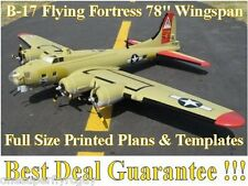 "B-17 Flying Fortress 78"" WS Giant Scale RC Airplane PRINTED Plans & Templates"