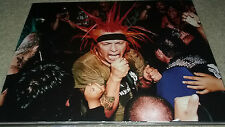 SIGNED AUTOGRAPH JORGE HERRERA THE CASUALTIES PUNK ROCK HUGE 11X14 PHOTO C