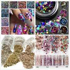 Nail Art DIY Powder Glitter Dust For UV GEL Acrylic Powder Decoration Tips new