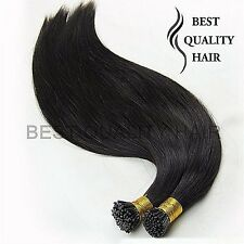50Strands 20''-30'' Straight Stick I Tip Remy Human Hair Extensions 1g/Strand 1#