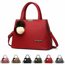 Fashion Womens PU Leather Satchel Handbag Shoulder Tote Messenger Crossbody Bag
