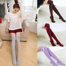 1 Pair Women Girl Autumn Lady Over Socks Stocking Fashion The Knee Thigh High