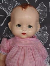 "Pedigree Baby Doll 19"" Vintage 1950's Hard Plastic Good Condition For Age"