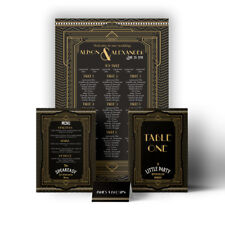 Personalised Art Deco 1920's Gatsby Wedding Table / Seating Plan