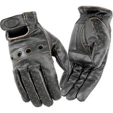 River Road Outlaw Vintage Vented Leather Glove Motorcycle Gloves