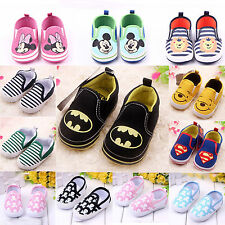 Kids Toddler Boy Girl Infant Slip On Loafers Baby Prewalkers Soft Sneakers Shoes