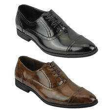 Mens Patent Leather Brogues Black Brown Smart Casual Lace up Shoes 6 7 8 9 10 11