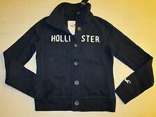 Hollister by Abercrombie Womens Sweater Button Down Navy Jacket Sz M - NWT
