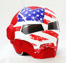 Brand New Masei Ironman 610 US Patriot Motorcycle Helmet - All sizes available