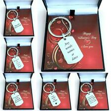 Personalised Valentines Gift for Boyfriend, Husband,Fiance etc. Engraved Keyring