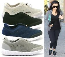 WOMENS TRAINERS GYM GO CASUAL WALK FITNESS DIAMANTE TOGGLE LADIES SHOES SIZE