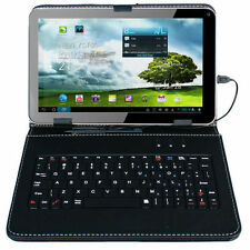 """9"""" Tablet PC Quad Core 8GB WiFi Dual Camera Android 4.4 USB Keyboard Case Bundle"""