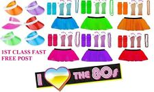 NEON UV 1980s GIRLS FANCY DRESS HEN PARTY TUTU RARA SET 8-14 UK 1980s 80s Disco