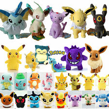 Pokemon Go Pikachu Eevee Squirtle Plush Stuffed Kids Soft Toys Dolls Gifts Decor