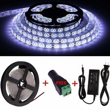 5M 10M 15M 300LED SMD 3528/5050/5630 RGB White Flexible Strip Light 12V power