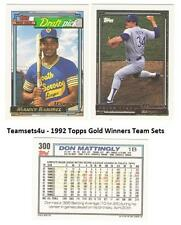 1992 Topps Gold Winners Baseball Team Sets ** Pick Your Team Set **