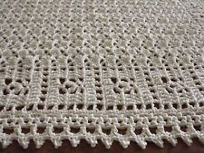 Handmade  NEW crochet baby  blanket  White Afghan  Sweet Dreams Baptism