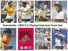 1993 US Playing Card Aces Baseball Set ** Pick Your Team **