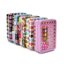 Mini Tin Metal Container Small Rectangle Lovely Storage Box Case Pattern Pop mw