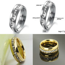 Sz4-15 CZ Stainless Steel Titanium Ring Couple Wedding