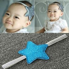 Silver Shiny Girl Toddler Elastic Kids Infant Headwear Star Baby Headband