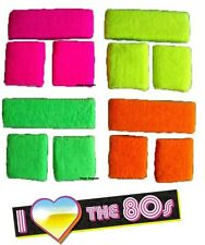 Sweatband Fancy Dress Neon Headband Wristbands 80s UV 2 Wrist Headbands Costume