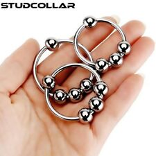 STUDCOLLAR-GLANS-RING - Stainless Steel Erection Impotence Aid Ring With 4 Balls